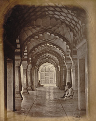 Enfilade of cusped arches in the Bibi-ka-Maqbara, Aurangabad